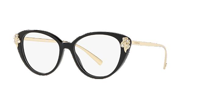 9f8ba974cb2ca VE3262B  Shop Versace Black Cat Eye Eyeglasses at LensCrafters