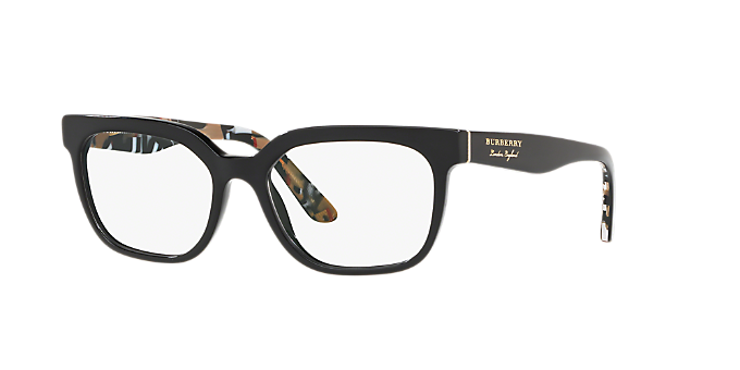 b6de90db1e BE2277  Shop Burberry Black Square Eyeglasses at LensCrafters