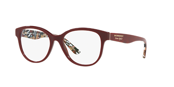 4d9b78ece6 BE2278  Shop Burberry Burgundy Round Eyeglasses at LensCrafters