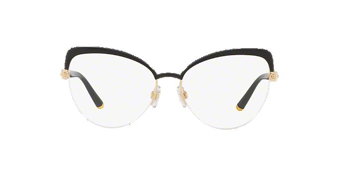 cdd88ba05ff8 DG1305  Shop Dolce   Gabbana Black Cat Eye Eyeglasses at LensCrafters
