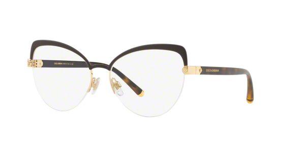 c57e146fc8 DG1305  Shop Dolce   Gabbana Brown Tan Cat Eye Eyeglasses at LensCrafters
