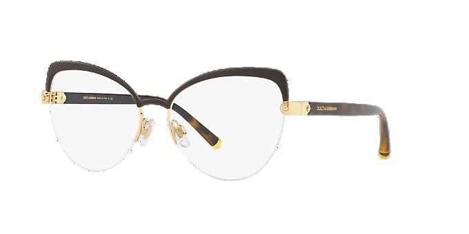 c483caa49b DG1305  Shop Dolce   Gabbana Brown Tan Cat Eye Eyeglasses at ...