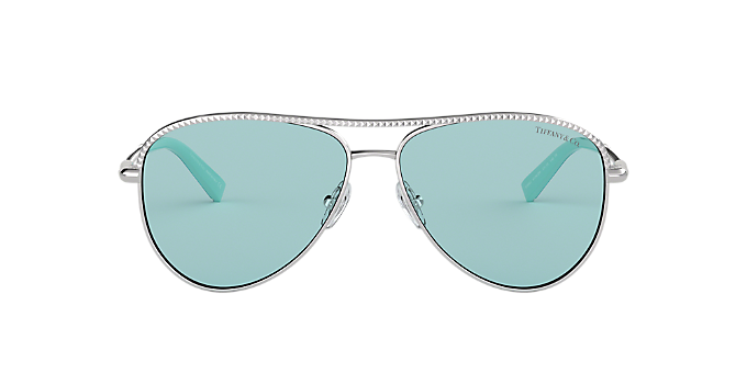 9090854dc14 TF3062 57  Shop Tiffany Silver Gunmetal Grey Sunglasses at LensCrafters