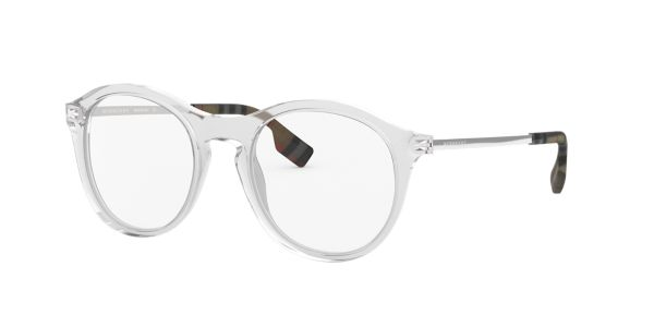 f2acc24682d BE2287  Shop Burberry Clear White Eyeglasses at LensCrafters