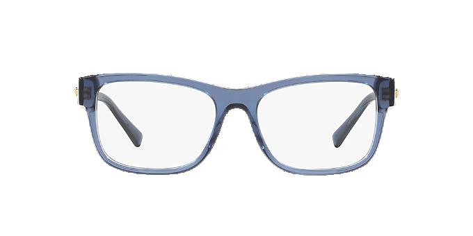 b8d0e815c5228 VE3266  Shop Versace Blue Eyeglasses at LensCrafters