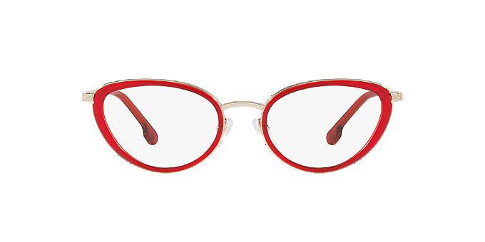 33526c07ef8e5 VE1258  Shop Versace Clear White Cat Eye Eyeglasses at LensCrafters
