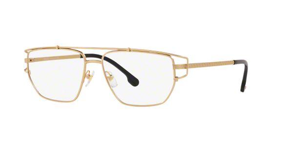 c98a93cb485 VE1257  Shop Versace Gold Eyeglasses at LensCrafters