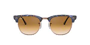 21bb95c181d8e RB3016 49 CLUBMASTER  Shop Ray-Ban Black Square Sunglasses at ...