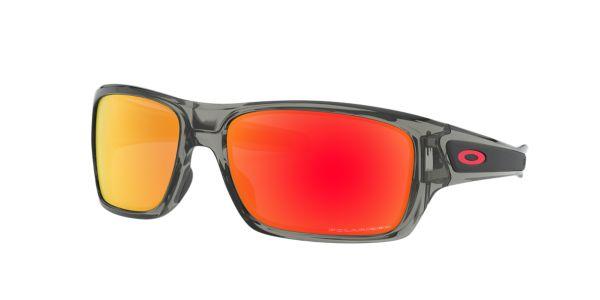 3fab0f93ae5 OO9263 TURBINE  Shop Oakley Silver Gunmetal Grey Rectangle Sunglasses at  LensCrafters