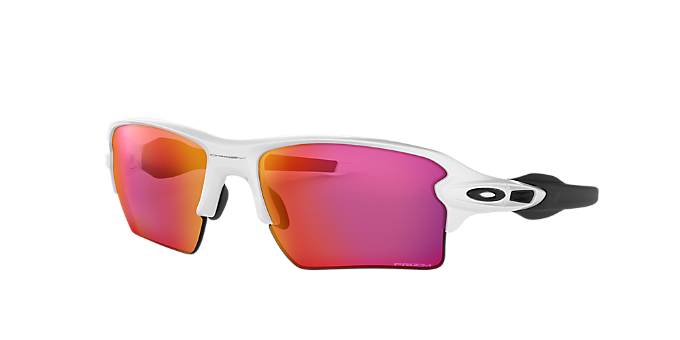 9e0d815a33 OO9188 59 FLAK 2.0 XL  Shop Oakley Clear White Rectangle Sunglasses at  LensCrafters