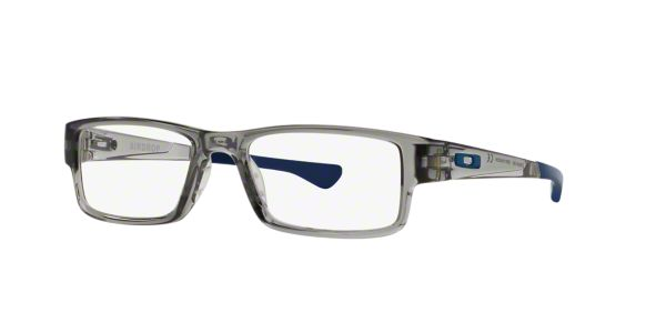760ab777d1c OX8046 AIRDROP  Shop Oakley Silver Gunmetal Grey Rectangle Eyeglasses at  LensCrafters