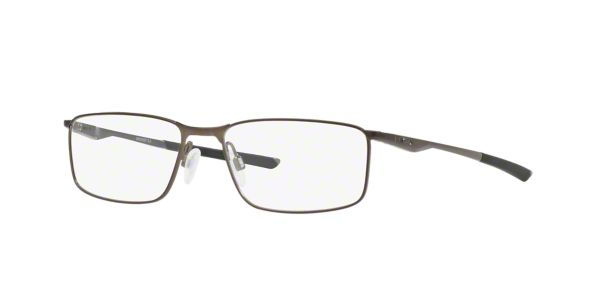 0780aead8b5 OX3217 Socket 5.0  Shop Oakley Silver Gunmetal Grey Rectangle Eyeglasses at  LensCrafters