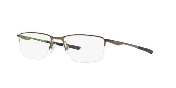ab4d81b7e5 OX3218 Socket 5.5  Shop Oakley Silver Gunmetal Grey Rectangle Eyeglasses at  LensCrafters