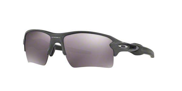 ec99664da5bd9 OO9188 59 FLAK 2.0 XL  Shop Oakley Silver Gunmetal Grey Rectangle Sunglasses  at LensCrafters