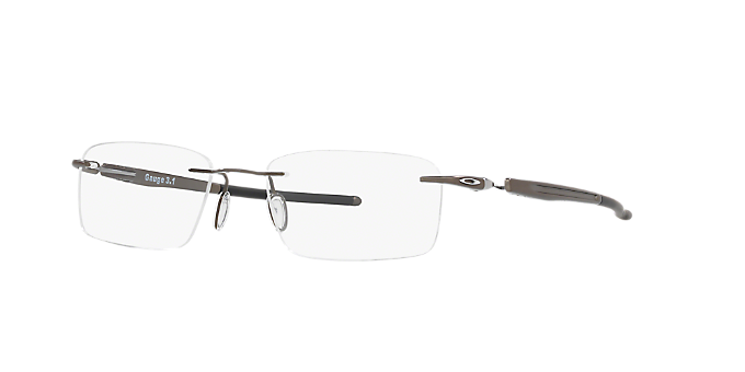 25b389748d OX5126 GAUGE 3.1  Shop Oakley Silver Gunmetal Grey Rectangle Eyeglasses at  LensCrafters