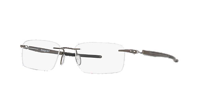 58e9cfb72a OX5126 GAUGE 3.1  Shop Oakley Silver Gunmetal Grey Rectangle Eyeglasses at  LensCrafters