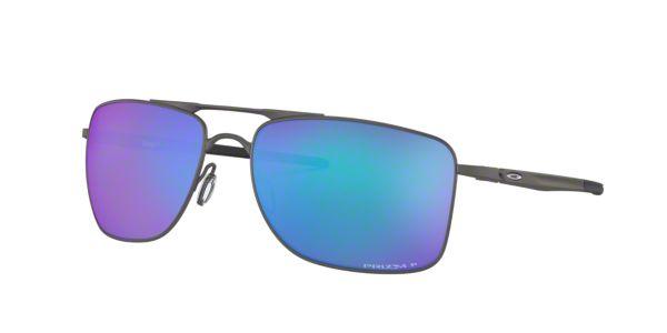 53c364ed5ef OO4124 62 Gauge 8  Shop Oakley Silver Gunmetal Grey Rectangle Sunglasses at  LensCrafters