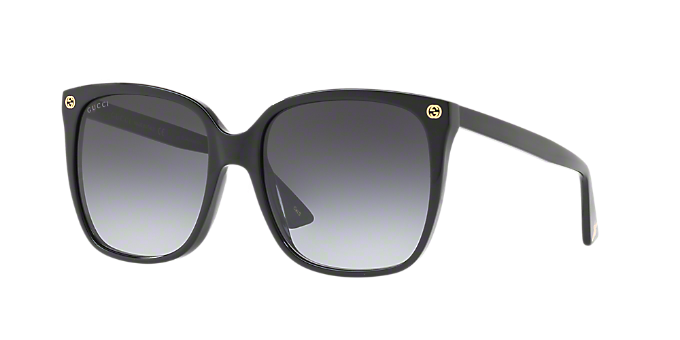 07742524ff4 GG0022S 57  Shop Gucci Black Cat Eye Sunglasses at LensCrafters
