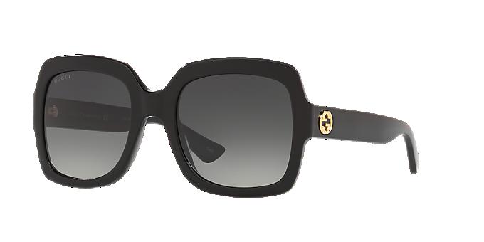 a120832c1f5 GG0036S 54  Ver Gafas de sol rectangulares Gucci Black en LensCrafters