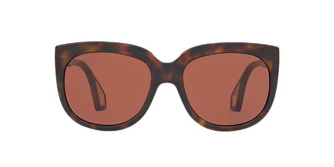 306d843f352 GG0468S 57  Ver Gafas de sol rectangulares Gucci Tortoise en ...