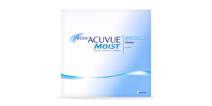 1-DAY ACUVUE® MOIST for ASTIGMATISM, 90 pack main image
