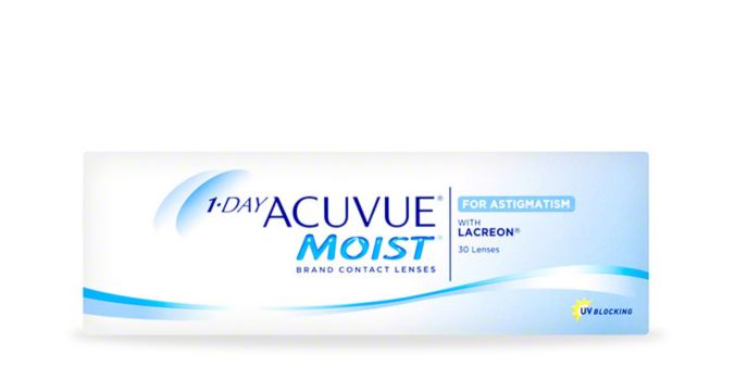 1-DAY ACUVUE® MOIST for ASTIGMATISM, 30 pack main image