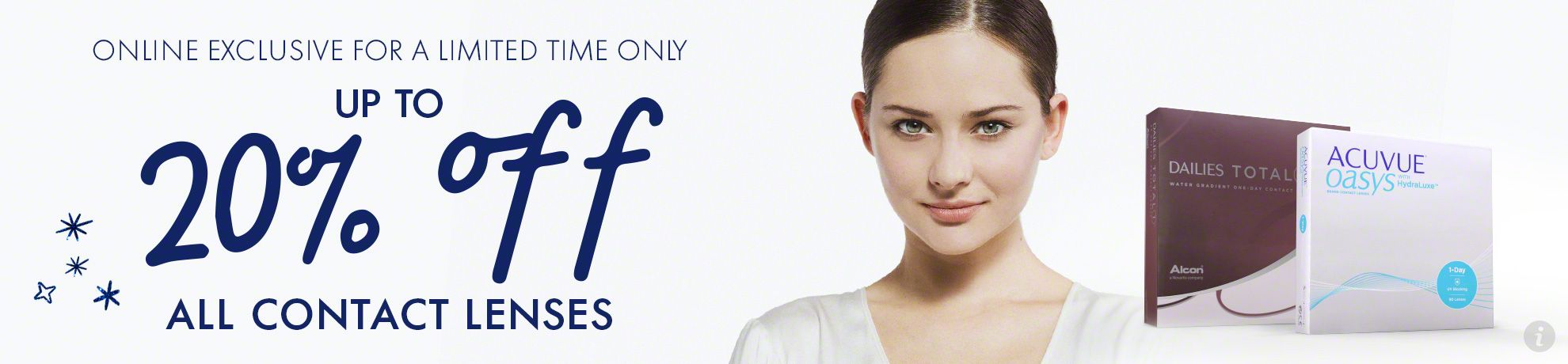 Up to 20% on contact lenses