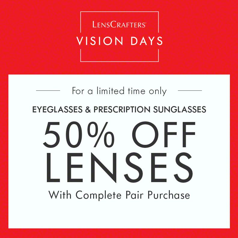 LENSCRAFTERS DISCOUNTS