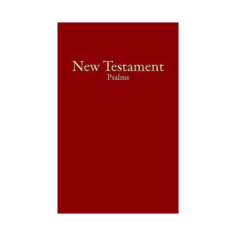 KJV Economy New Testament with Psalms, Burgundy Imitation Leather