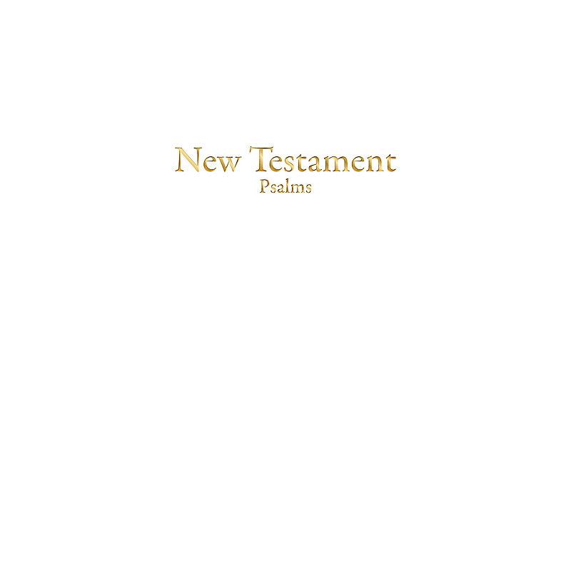 KJV Economy New Testament with Psalms, White Imitation Leather