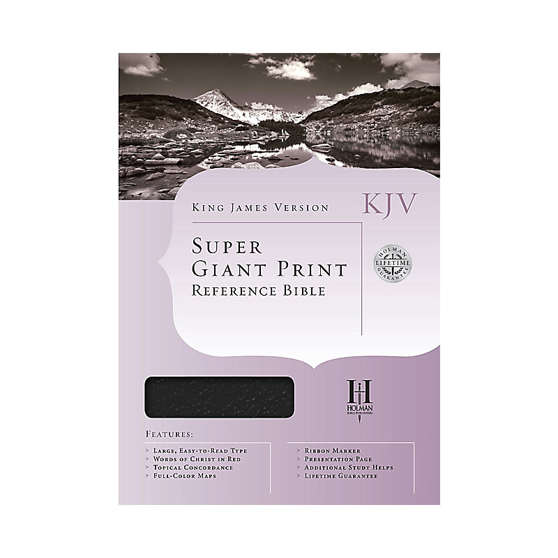 KJV Super Giant Print Reference Bible, Black Imitation Leather Indexed