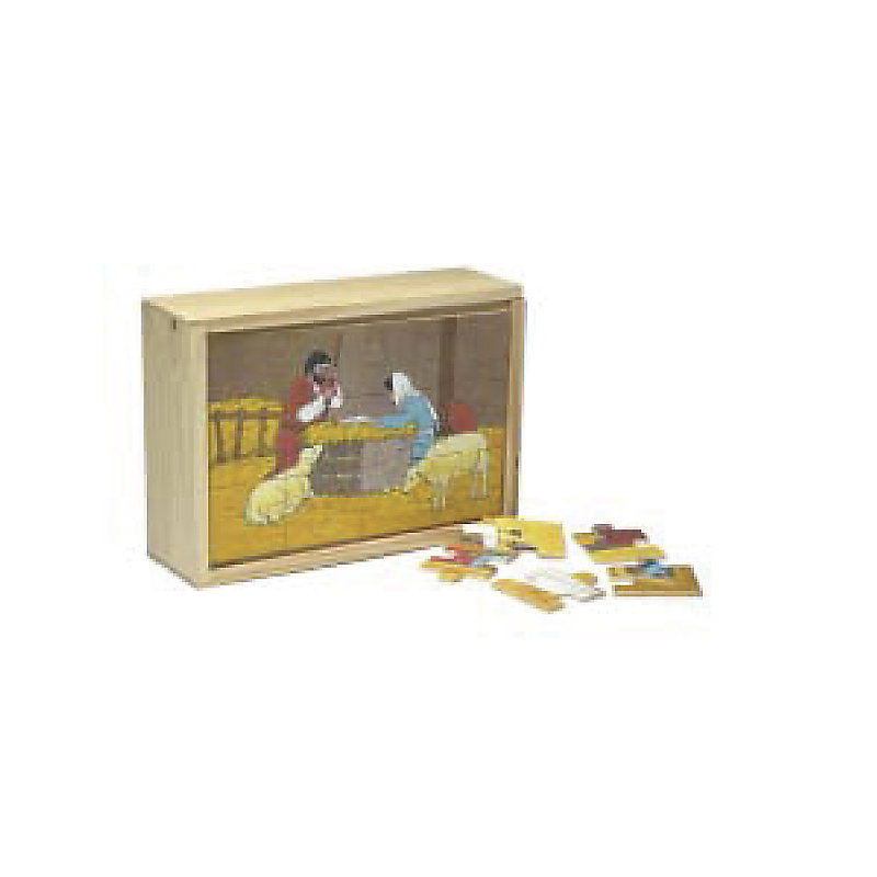 Wooden Box Puzzles Life Of Jesus Set Of 4