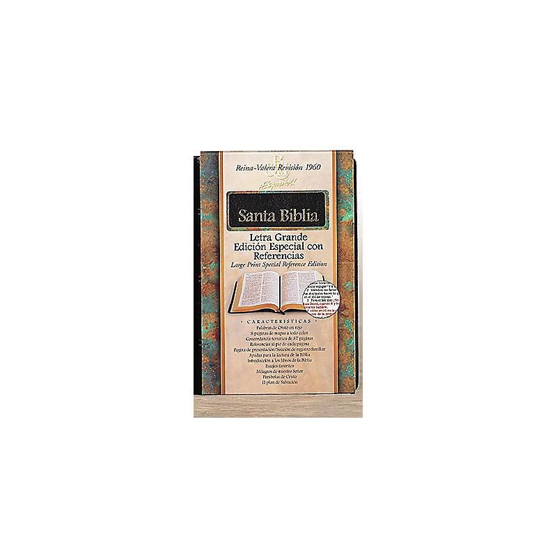 RVR 1960 Biblia Letra Grande Edición Especial con Referencias, negro piel fabricada
