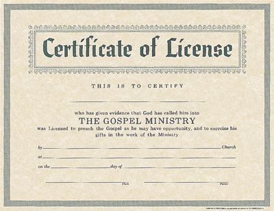 License for minister - LifeWay