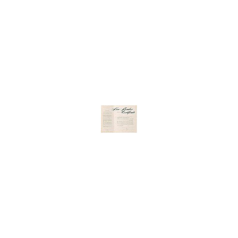 New Member Instruction Certificate - Parchment