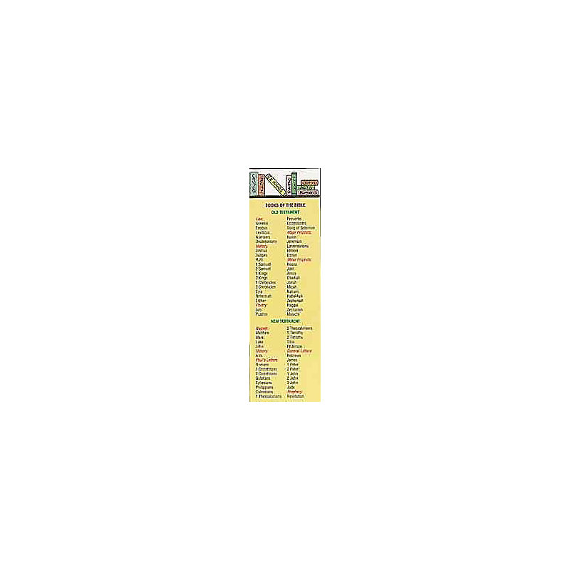 Books of the Bible - Bookmark (Pkg 25) General Worship