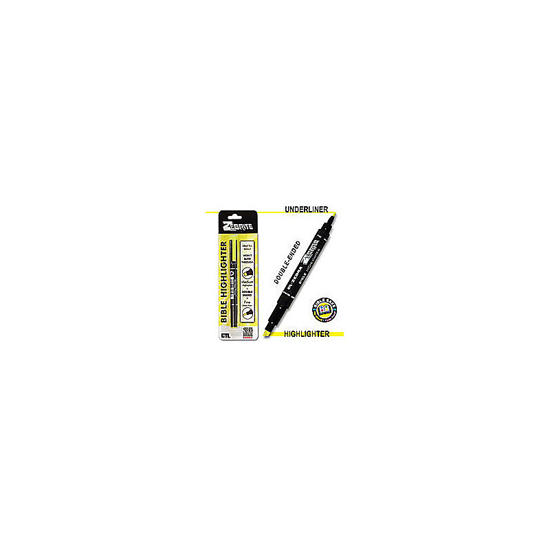 Zebrite Bible Highlighters (Yellow)
