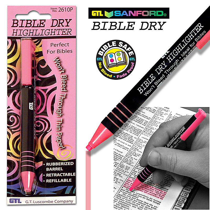Bible Dry Highlighters (Pink)