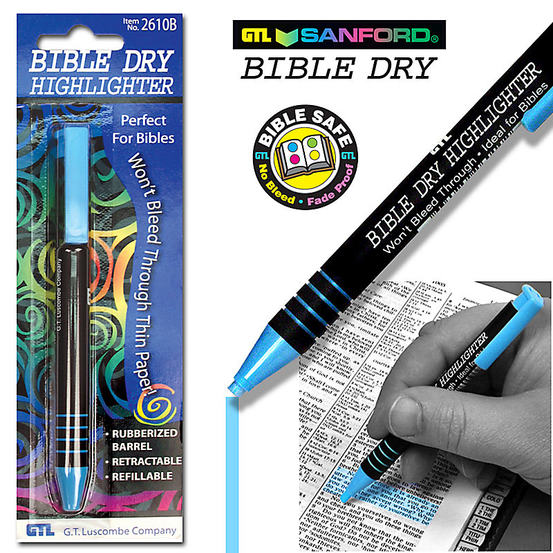 Bible Dry Highlighters (Blue)