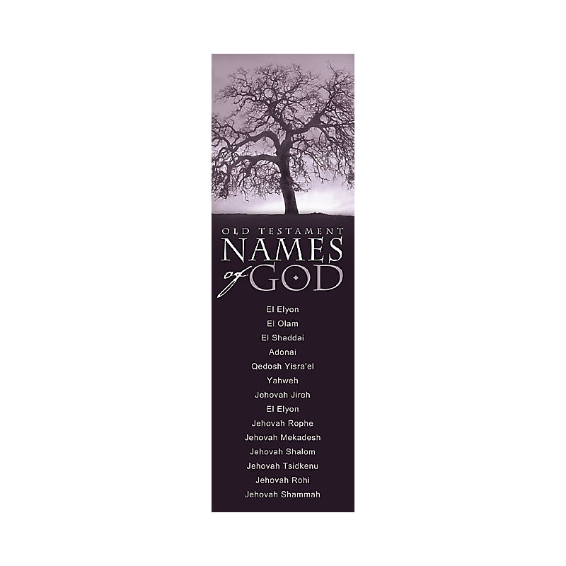 Names of God -Old Testament - Bookmark (Pkg 25) General Worship