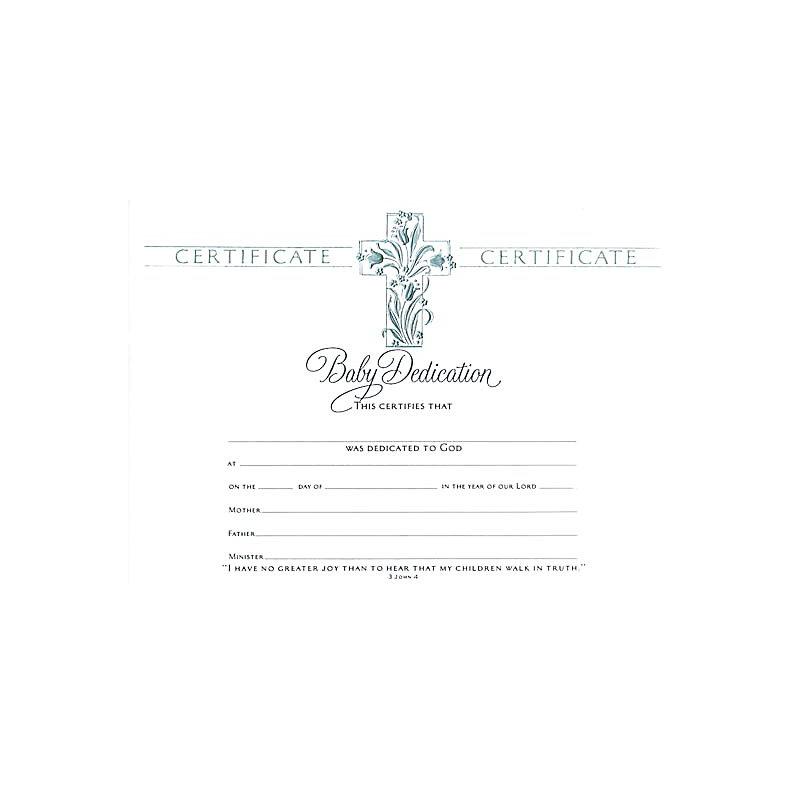 Certificate Baby Dedication Lifeway
