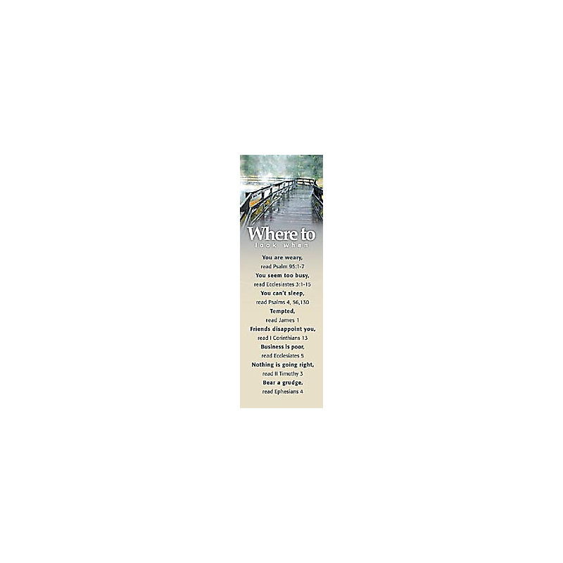 Where to Look Topics - 3 - Bookmark (Pkg 25) General Worship
