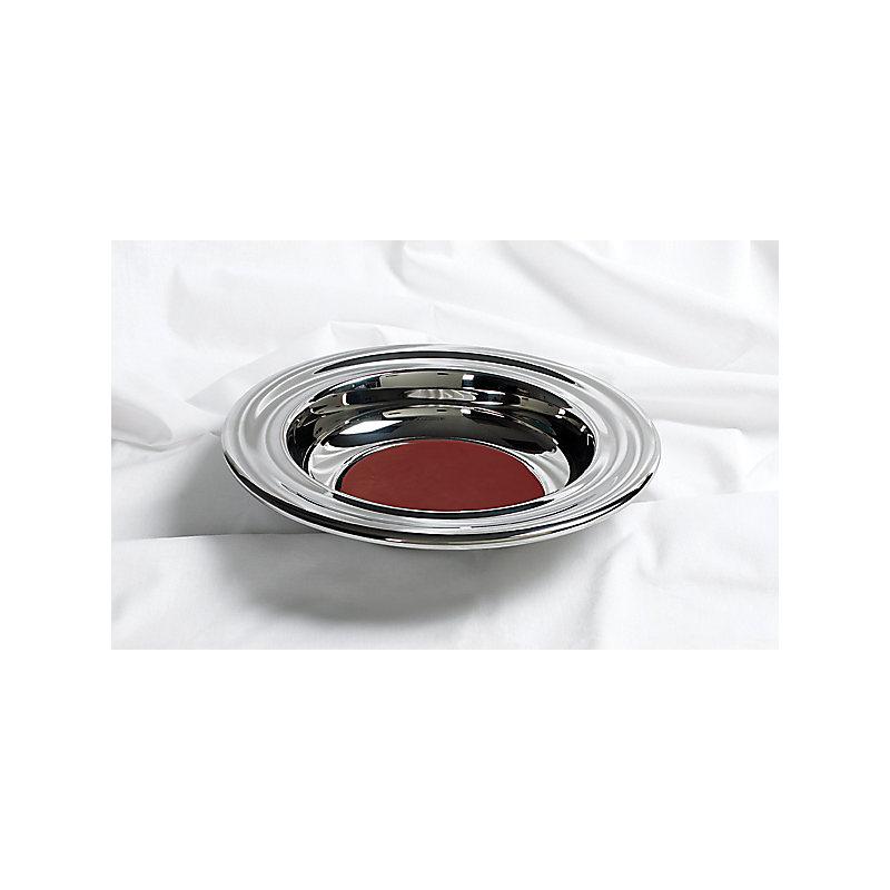 Silver Offering Plate w/Red Felt