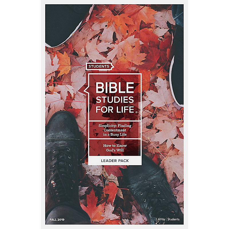 Bible Studies for Life: Students Leader Pack - Fall 2019
