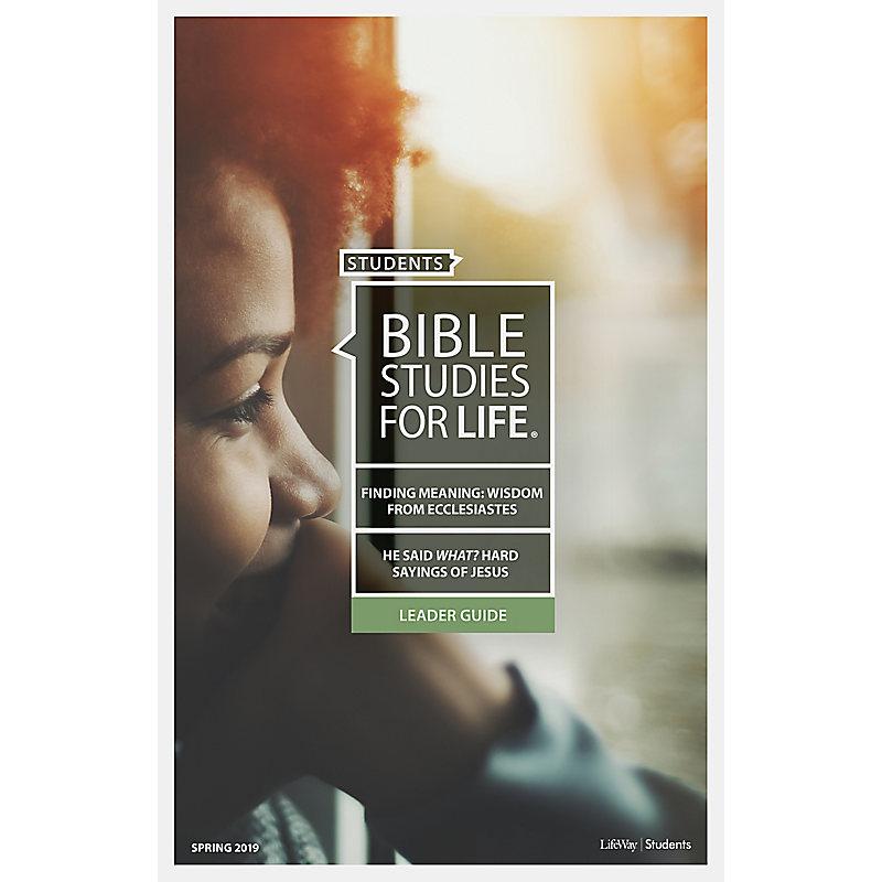 Bible Studies for Life: Students Leader Pack - Spring 2019