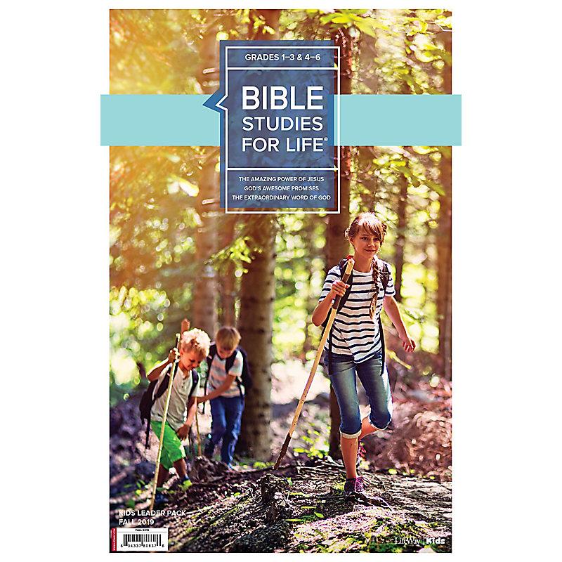 Bible Studies For Life: Kids Grades 1-3 & 4-6 Leader Pack - CSB/KJV Fall 2019