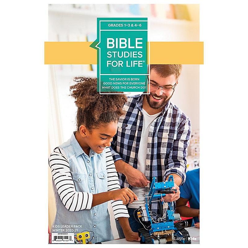 Bible Studies for Life: Kids Grades 1-3 and 4-6 Leader Pack - CSB/KJV Winter 2021