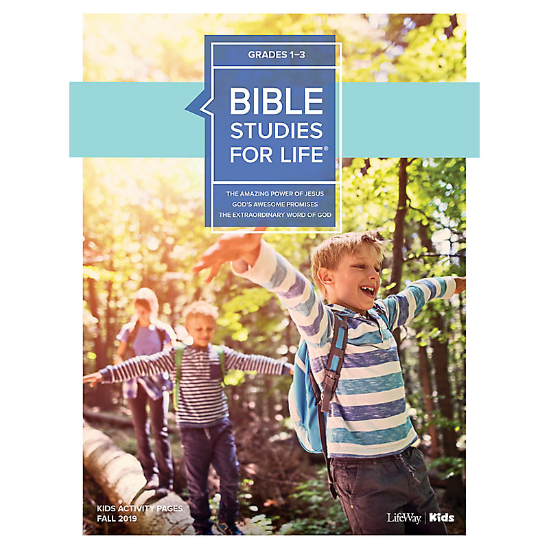 Bible Studies For Life: Kids Grades 1-3 Activity Pages CSB/KJV - Fall 2019