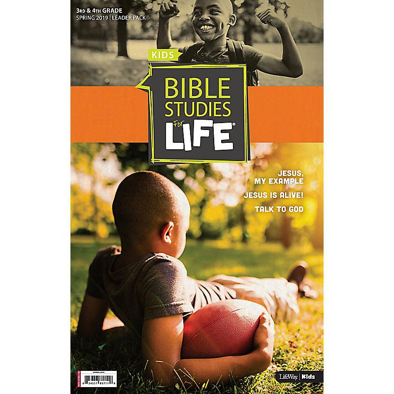 Bible Studies For Life: Kids Grades 3-4 Leader Pack Spring 2019