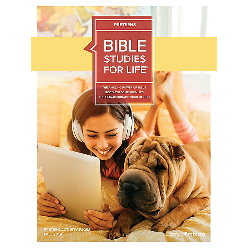 Bible Studies For Life: Preteens Activity Pages - CSB - Fall 2019